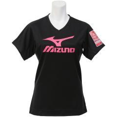MIZUNO(ミズノ)バレーボール 半袖プラクティスシャツ ブレスサーモプラクティスシャツ V2MA778096 レディース ブラックXピンクグロー