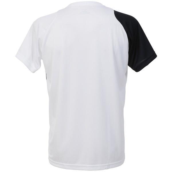 MIZUNO(ミズノ)バレーボール 半袖プラクティスシャツ TSAハンソデプラシャツNXT V2JA740370 ホワイトxブラックxゴールド