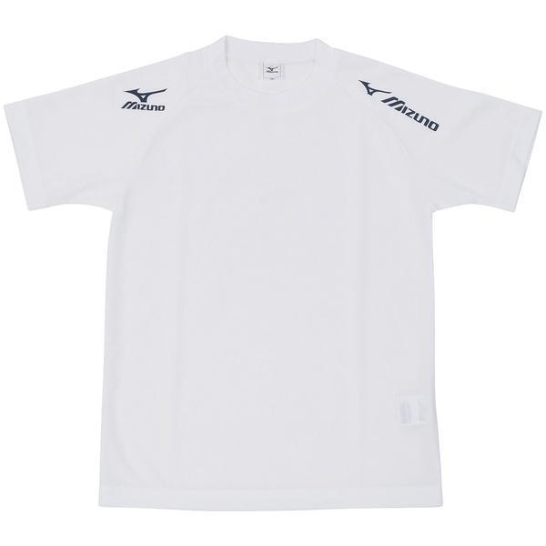 MIZUNO(ミズノ)バレーボール 半袖プラクティスシャツ TSAハンソデプラクティスシャツ V2MA518001 ジュニア 140 ホワイトxネイビー