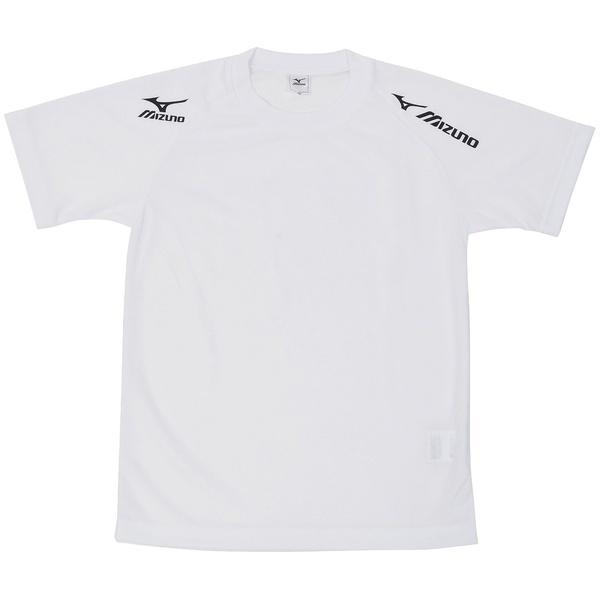 MIZUNO(ミズノ)バレーボール 半袖プラクティスシャツ TSAハンソデプラクティスシャツ V2MA518009 ジュニア ホワイトxブラック