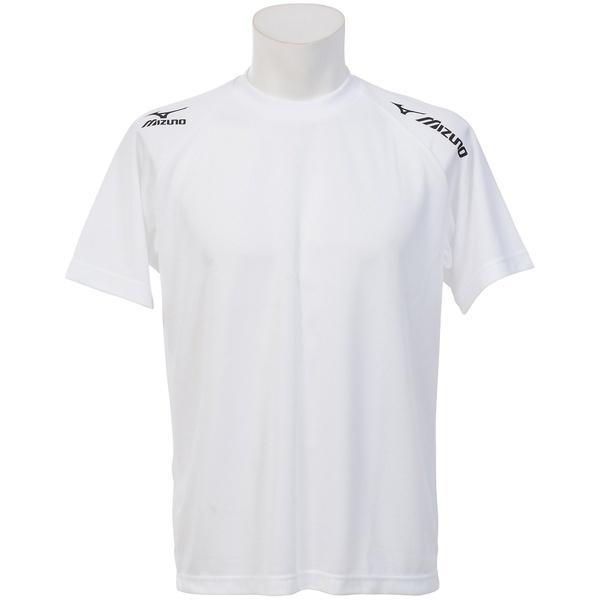 MIZUNO(ミズノ)バレーボール 半袖プラクティスシャツ TSAハンソデプラクティスシャツ V2MA518009 ホワイトxブラック