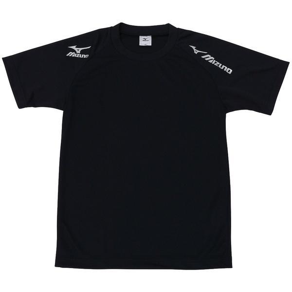 MIZUNO(ミズノ)バレーボール 半袖プラクティスシャツ TSAハンソデプラクティスシャツ V2MA518090 ジュニア ブラックxシルバー