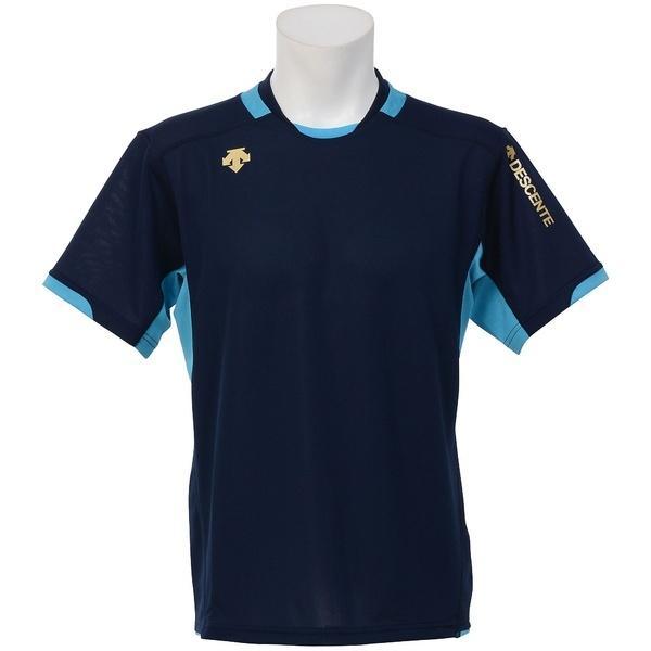 (セール)DESCENTE(デサント)バレーボール 半袖プラクティスシャツ 半袖プラクティスシャツ DVB-5721 NVY NVY