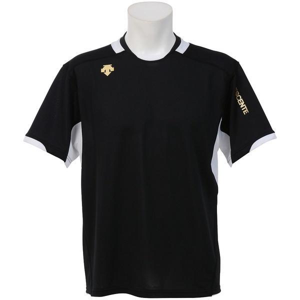 (セール)DESCENTE(デサント)バレーボール 半袖プラクティスシャツ 半袖プラクティスシャツ DVB-5721 BLK BLK