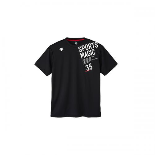 (セール)DESCENTE(デサント)バレーボール 半袖Tシャツ 半袖プラクティスシャツ DVB-5727B BWH BWH