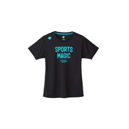 (セール)DESCENTE(デサント)バレーボール 半袖Tシャツ 半袖プラクティスシャツ DVB-5727DW BBL レディース BBL