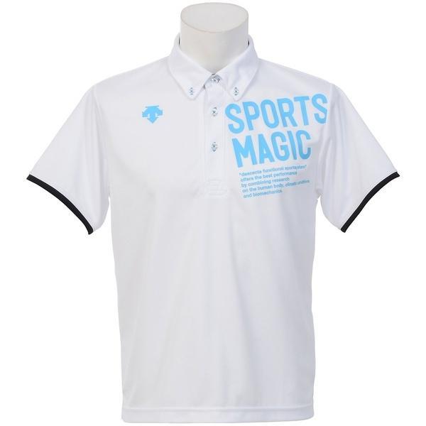 (セール)DESCENTE(デサント)バレーボール 半袖Tシャツ ポロシャツ DVB-4700 WHT WHT