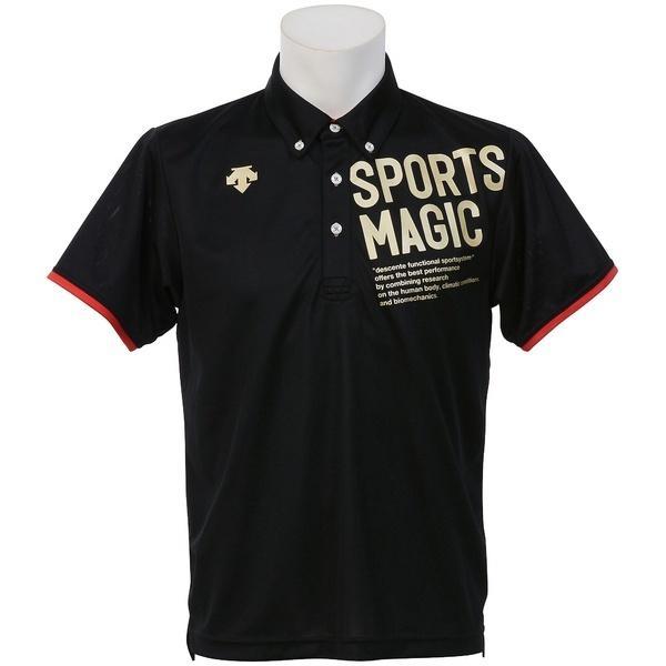 (セール)DESCENTE(デサント)バレーボール 半袖Tシャツ ポロシャツ DVB-4700 BLK BLK