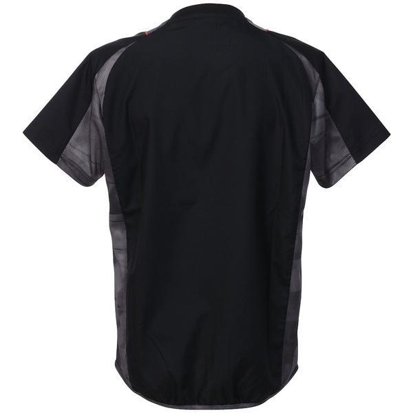 (セール)DESCENTE(デサント)バレーボール ウェア 半袖プラクティスピステ DVB-3721 BLK BLK