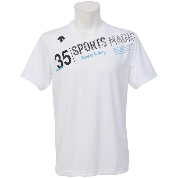 (セール)DESCENTE(デサント)バレーボール 半袖Tシャツ 17S SMU GRAPHIC TEE DOR-B8417 WBK メンズ WBK