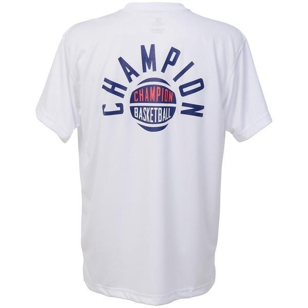 (セール)Champion(チャンピオン)バスケットボール メンズ 半袖Tシャツ DRYSAVER T-SHIRTS C3-KB353 メンズ ホワイト