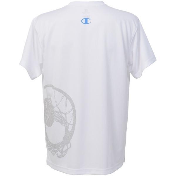 (セール)Champion(チャンピオン)バスケットボール メンズ 半袖Tシャツ PRACTICE TEE C3-KB310 メンズ ホワイト