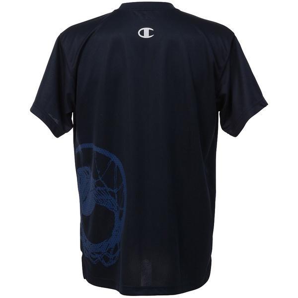 (セール)Champion(チャンピオン)バスケットボール メンズ 半袖Tシャツ PRACTICE TEE C3-KB310 メンズ ネイビー
