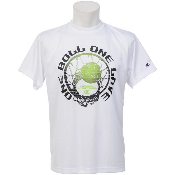 (セール)Champion(チャンピオン)バスケットボール メンズ 半袖Tシャツ PRACTICE TEE C3-KB312 メンズ ホワイトXブラック
