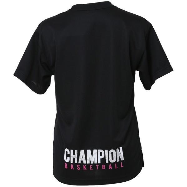 (セール)Champion(チャンピオン)バスケットボール レディース 半袖Tシャツ WOMENS PRACTICE TEE CW-KB317 レディース ブラック