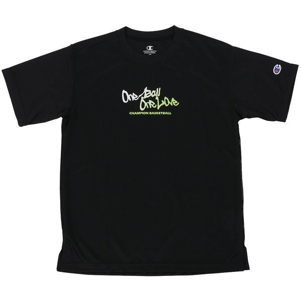 (セール)Champion(チャンピオン)バスケットボール ジュニア 半袖Tシャツ MINI PRACTICE TEE CK-KB321 ボーイズ ブラック