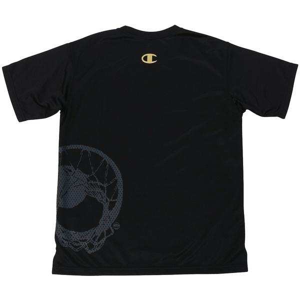 (セール)Champion(チャンピオン)バスケットボール ジュニア 半袖Tシャツ MINI PRACTICE TEE CK-KB321 ボーイズ ブラックXゴールド