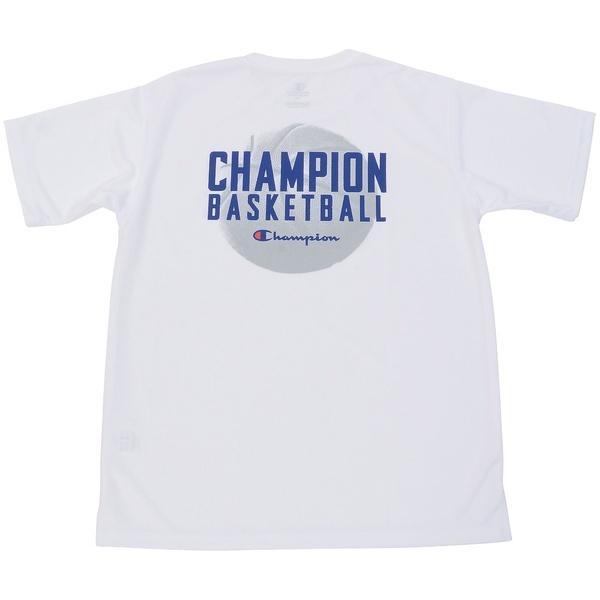 (セール)Champion(チャンピオン)バスケットボール ジュニア 半袖Tシャツ MINI PRACTICE TEE CK-KB323 ボーイズ ホワイト