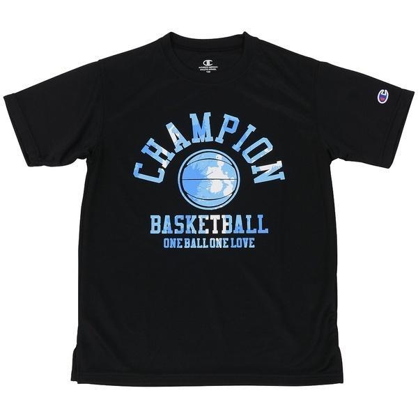 (セール)Champion(チャンピオン)バスケットボール ジュニア 半袖Tシャツ MINI PRACTICE TEE CK-KB325 ボーイズ ブラックXブルー