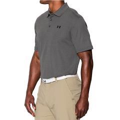 (送料無料)UNDER ARMOUR(アンダーアーマー)ゴルフ 半袖ポロ 半袖ハイネック UA PERFORMANCE POLO 1242755 メンズ CARBON HEATHER/BLACK