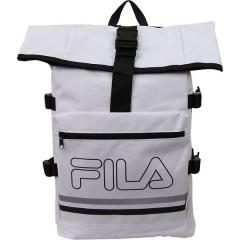 (セール)FILA(フィラ) スポーツアクセサリー バッグパック ロールトップバックパック Z FM2023-WH ホワイト