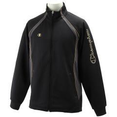 (セール)Champion(チャンピオン)メンズスポーツウェア ウォームアップジャケット ウォームアップシャツ Z CW1701-KG ブラックXゴールド