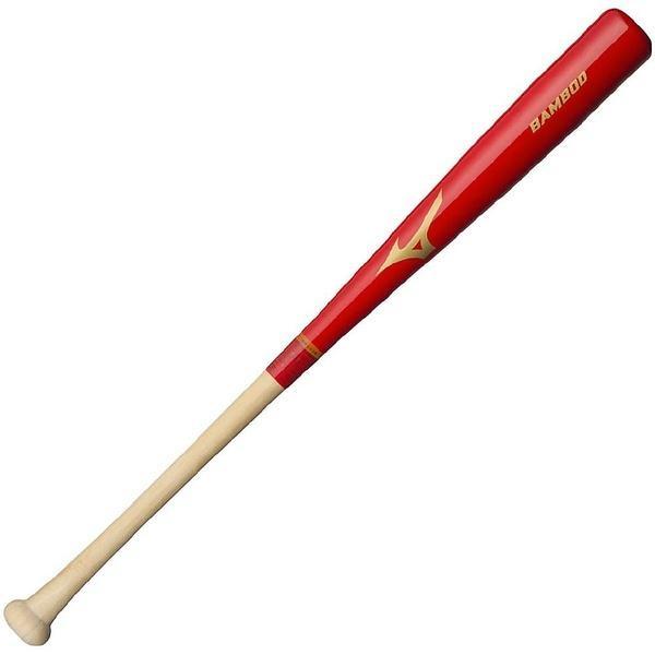 (送料無料)MIZUNO(ミズノ)野球 硬式木製バッド コウシキバンブー 17AWゲンテイ 1CJWH13585 62 メンズ 62 打球部/レッド グリップ部/生地出し