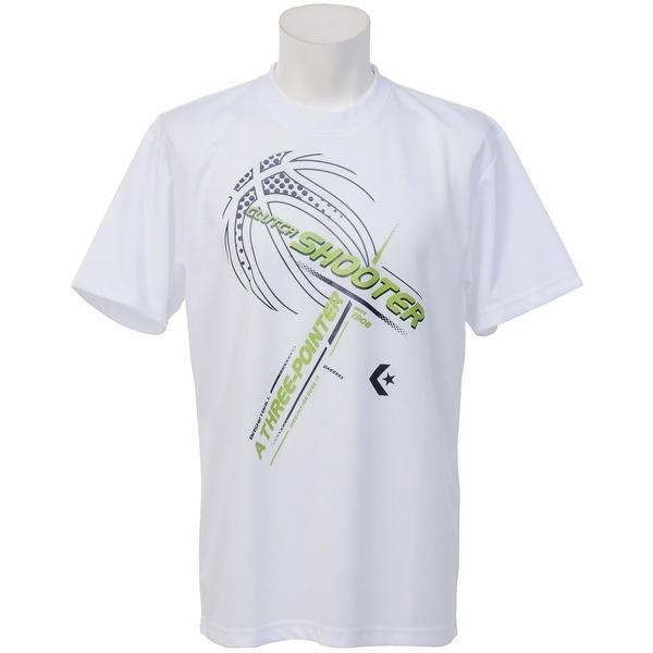 (セール)CONVERSE(コンバース)バスケットボール メンズ 半袖Tシャツ プリントTシャツ CB271313-1100 メンズ WHT