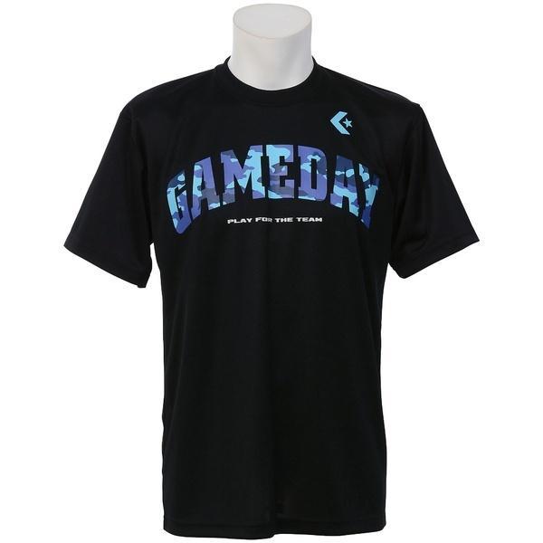 (セール)CONVERSE(コンバース)バスケットボール メンズ 半袖Tシャツ プリントTシャツ CB271314-1900 メンズ BLK