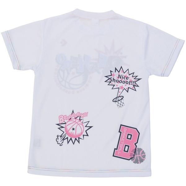 (セール)CONVERSE(コンバース)バスケットボール ジュニア ウェア JRプリントTシャツ CB471303-1161 ガールズ WHTPNK