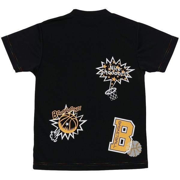 (セール)CONVERSE(コンバース)バスケットボール ジュニア 半袖Tシャツ JRプリントTシャツ CB471303-1900 ガールズ BLK