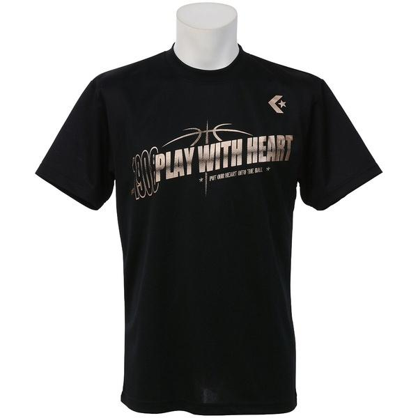 (セール)CONVERSE(コンバース)バスケットボール メンズ 半袖Tシャツ MENS PRINT T SHIRT CBC271318-1900 メンズ BLK