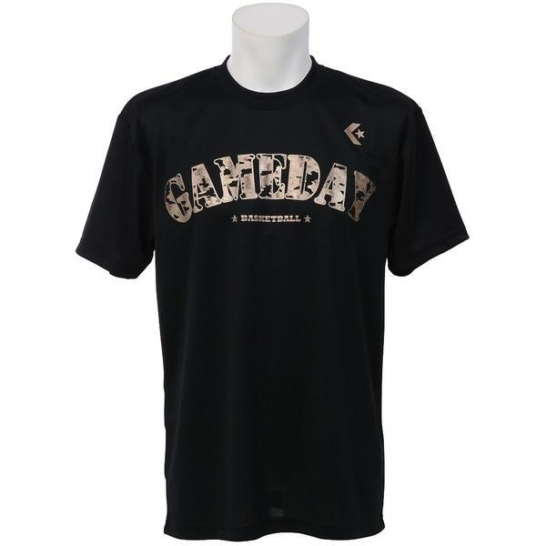 (セール)CONVERSE(コンバース)バスケットボール メンズ 半袖Tシャツ MENS PRINT T SHIRT CBC271319-1900 メンズ BLK