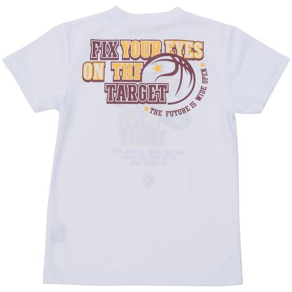 (セール)CONVERSE(コンバース)バスケットボール ジュニア 半袖Tシャツ BOYS PRINT T SHIRT CBC471306-1100 ボーイズ WHT