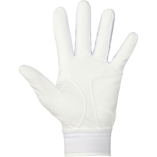 (セール)adidas(アディダス)野球 大人 両手用 BASIC バッティンググローブ Z BIS30-AP3628 メンズ ホワイト/ホワイト