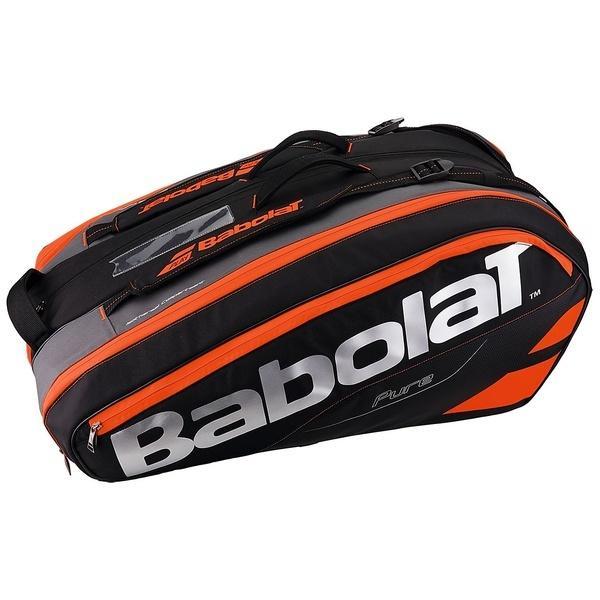 (送料無料)Babolat(バボラ)ラケットスポーツ バッグ ケース類 ラケットホルダー 12本収納 ピュア BB751133 BK/FRD