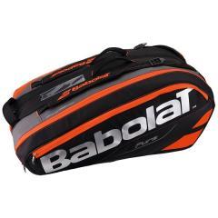(送料無料)Babolat(バボラ)テニス バドミントン ラケットバッグ ケース ラケットホルダー 12本収納 ピュア BB751133 BK/FRD