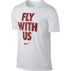 ナイキ バスケットボール メンズ 半袖Tシャツ ナイキ コア FLY WITH US S/S Tシャツ 844463-100 メンズ ホワイト/ホワイト