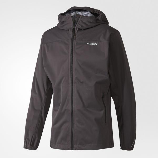 (送料無料)adidas(アディダス)トレッキング アウトドア 薄手ジャケット 3レイヤ マルチ GORE-TEX ジャケット DJK19 BR0723 メンズ ユーティリティブラック F16