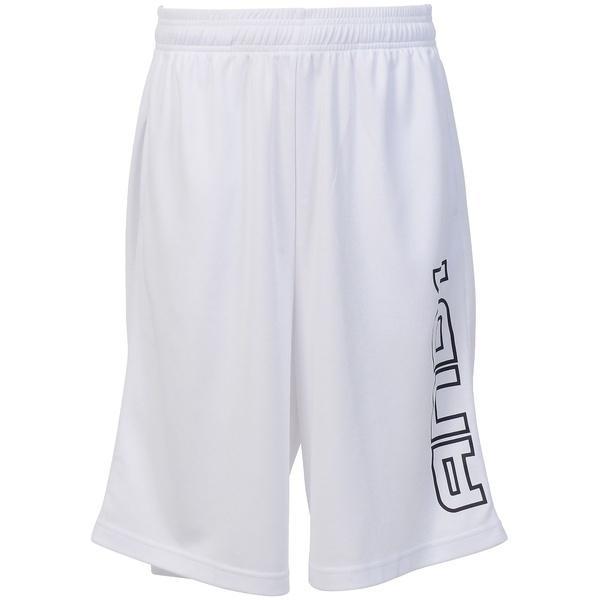 AND1(アンドワン)バスケットボール メンズ プラクティスショーツ LOGO SHORT S737020118 WHITE