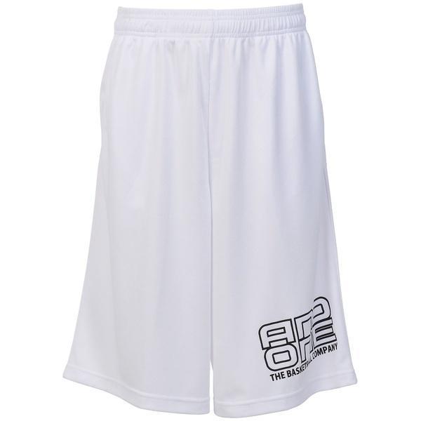 (セール)AND1(アンドワン)バスケットボール メンズ プラクティスショーツ TOO STAGE LOGO SHORT S737120501 WHITE/BLACK