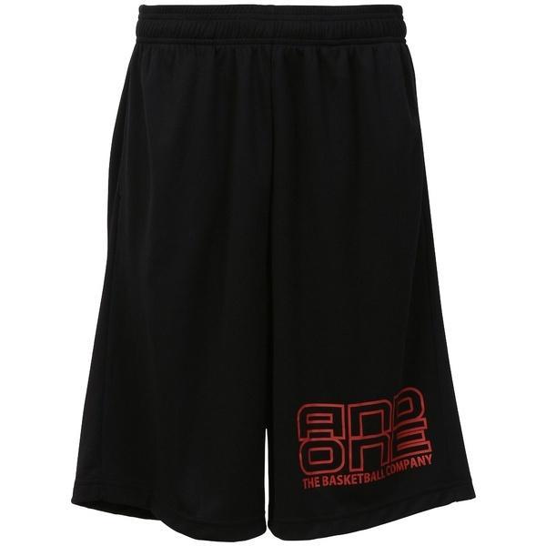 (セール)AND1(アンドワン)バスケットボール メンズ プラクティスショーツ TOO STAGE LOGO SHORT S737120583 BLACK/RED