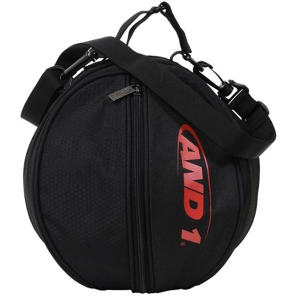 AND1(アンドワン)バスケットボール バッグ HOOK LOGO BALL BAG S730599783 F BLACK/RED