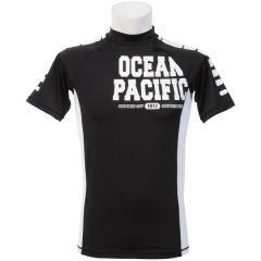 (セール)ocean pacific(オーシャンパシフィック)サマー レジャー メンズラッシュガード MENS RASHGUARD 516475 メンズ BLK