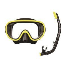 VIEW(ビュー)サマー レジャー シュノーケリング 耐久性に優れたシリコーン素材 10歳~大人向けマスク・スノーケル2点セット RC0103 BKFY BKFY