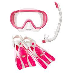 (送料無料)VIEW(ビュー)サマー レジャー シュノーケリング 高機能を全てに集約したシリコーン製のマスク・スノーケル・フィン3点セット RP0103 FP M M FP