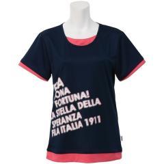 (セール)FILA(フィラ) テニス バドミントン レディース半袖シャツ 長袖シャツ FILAフェイクプリントTシャツ FL9713-20 レディース ネイビー