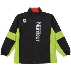 (セール)Number(ナンバー)ジュニアスポーツウェア ウインドスーツ ジュニア裏トリコットウィンドスーツ NB-F17-307-015 ボーイズ ブラック/ライム