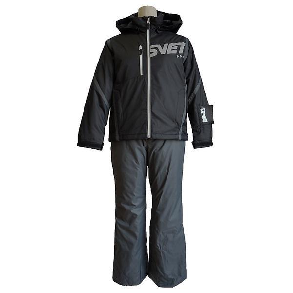(セール)(送料無料)SVET(スヴェット)ウインター ジュニアアパレル JR SKI SUIT SVS70001 ボーイズ BLACK