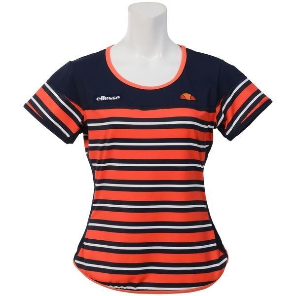 (送料無料)Ellesse(エレッセ)テニス バドミントン レディース半袖シャツ 長袖シャツ クルーシャツ EW07211 レディース FO